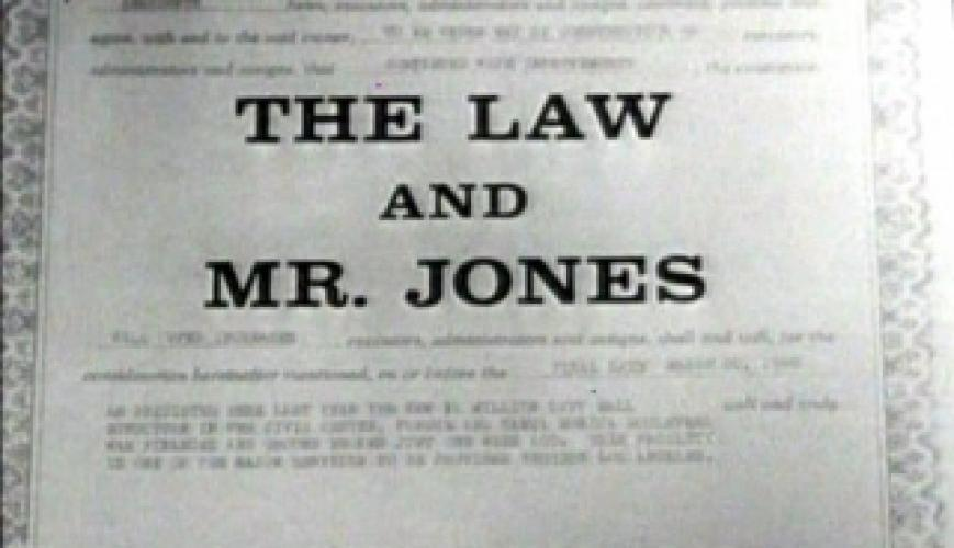 The Law and Mr. Jones next episode air date poster
