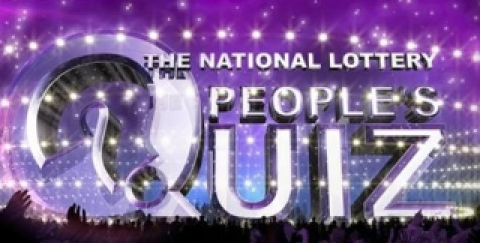 The National Lottery People's Quiz next episode air date poster