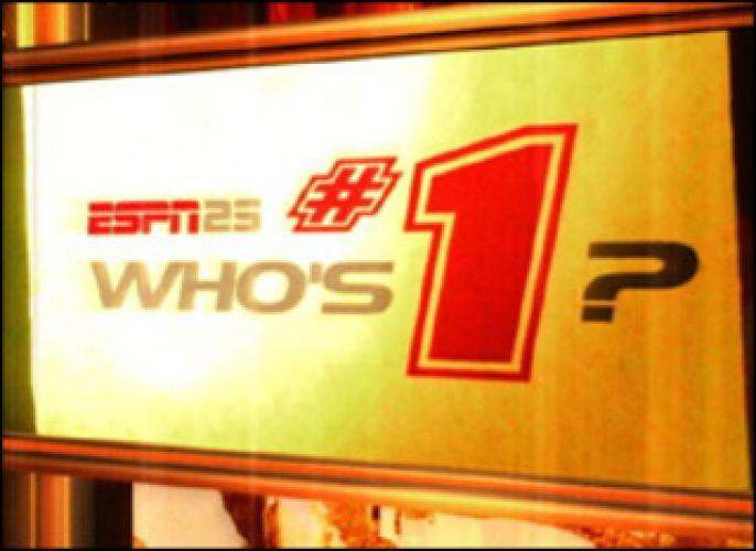 ESPN 25: Who's #1? next episode air date poster
