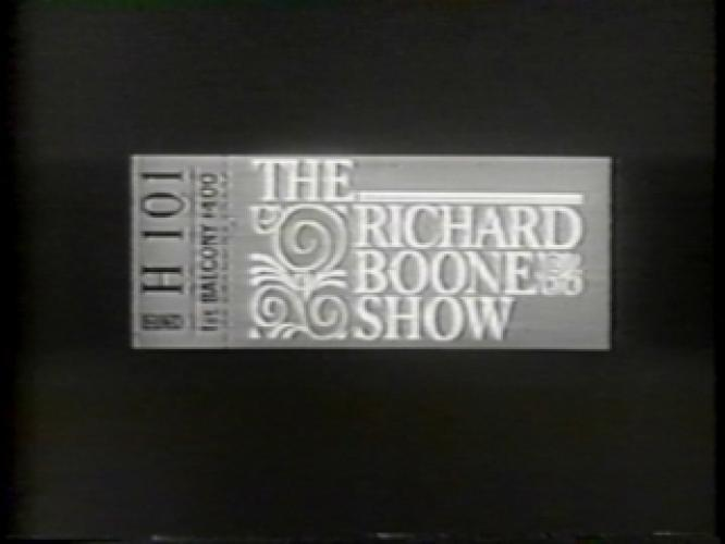 The Richard Boone Show next episode air date poster
