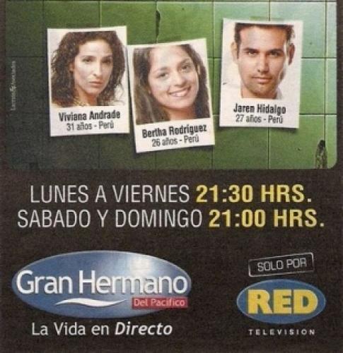Gran Hermano del Pacífico next episode air date poster