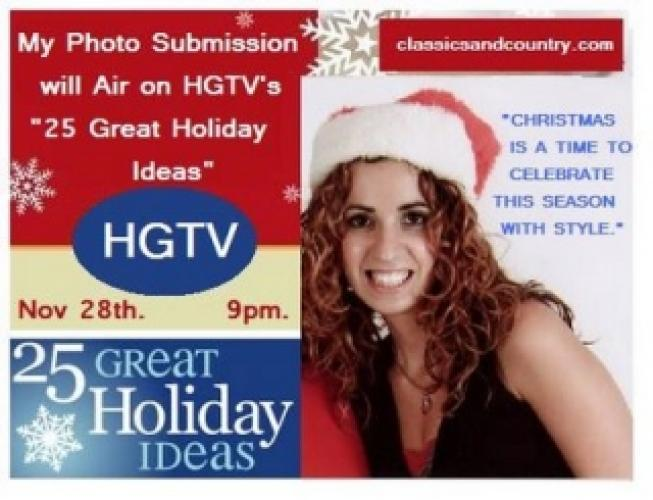 25 Great Holiday Ideas next episode air date poster