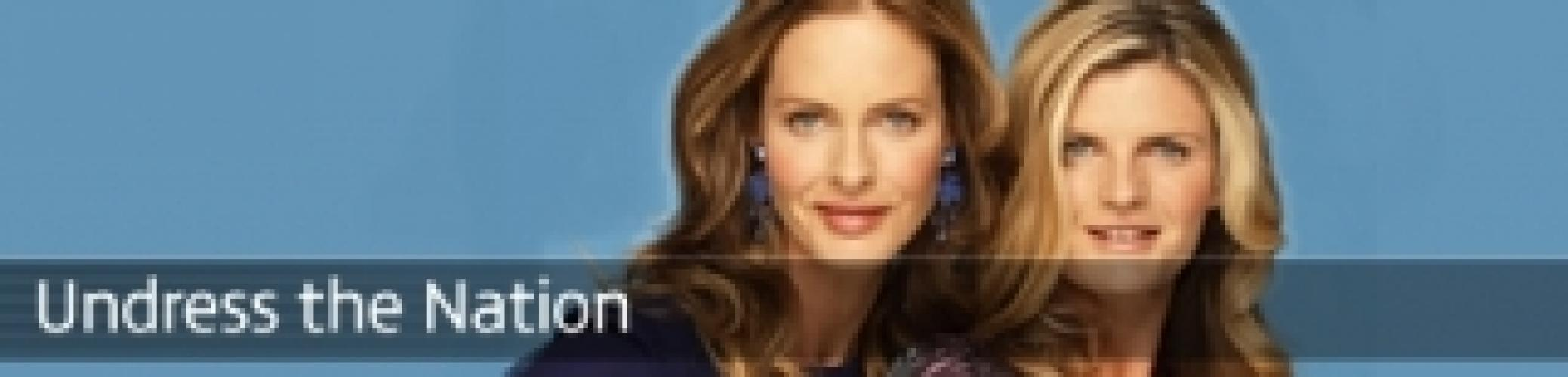 Trinny & Susannah Undress the Nation next episode air date poster