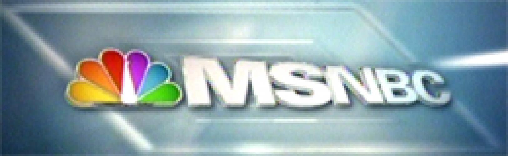 MSNBC Live next episode air date poster