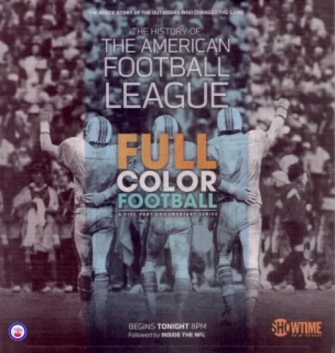 Full Color Football: The History of the American Football League next episode air date poster