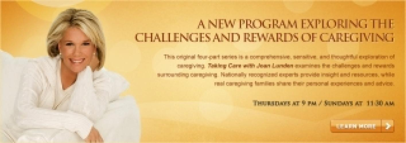 Taking Care with Joan Lunden next episode air date poster
