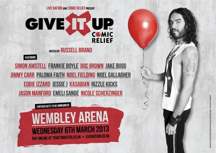 Russell Brand's Give it Up Gig for Comic Relief next episode air date poster