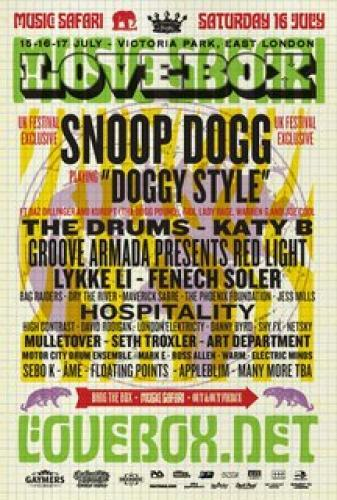 Snoop Dogg: Live at Lovebox next episode air date poster