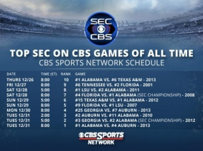SEC: Top 10 Games next episode air date poster