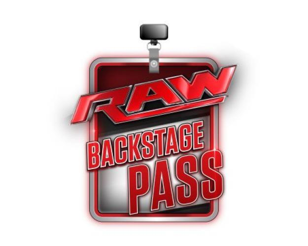 WWE Monday Night RAW Backstage Pass next episode air date poster