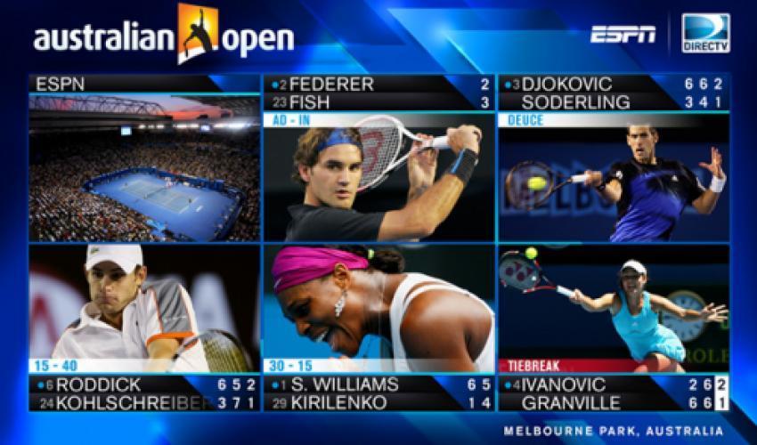 Grand Slam Tennis on ESPN next episode air date poster