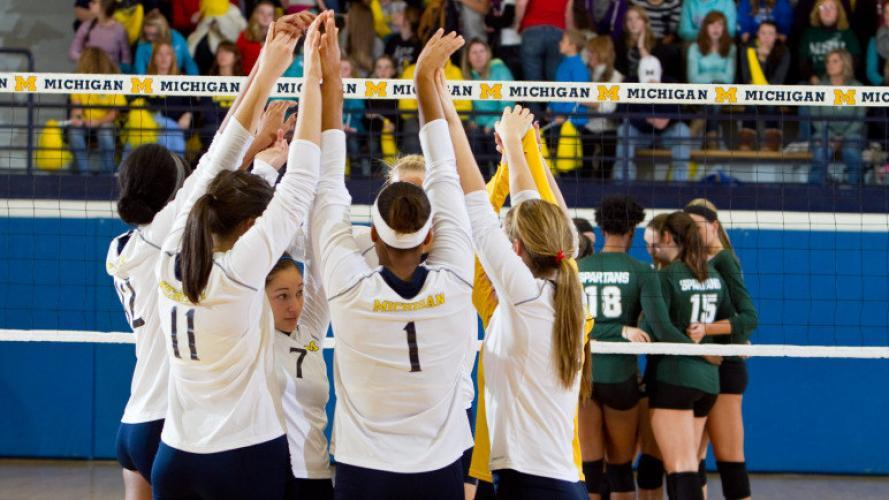 College Volleyball on Big Ten Network next episode air date poster