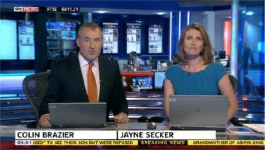 Sky News with Colin Brazier and Jayne Secker next episode air date poster