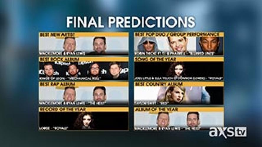 2015 GRAMMY® Prediction Special next episode air date poster