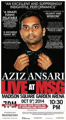 Aziz Ansari: Live At Madison Square Garden next episode air date poster