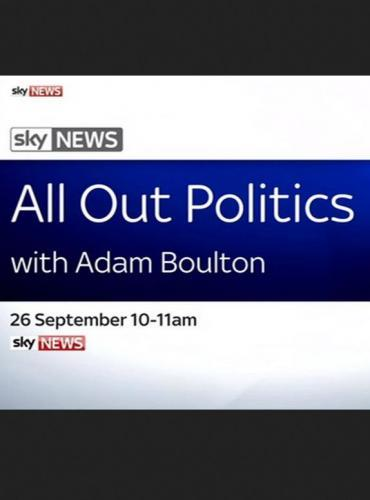 All Out Politics with Adam Boulton next episode air date poster
