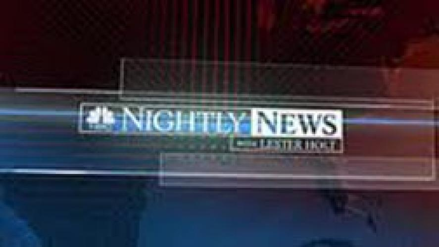 NBC Nightly News next episode air date poster
