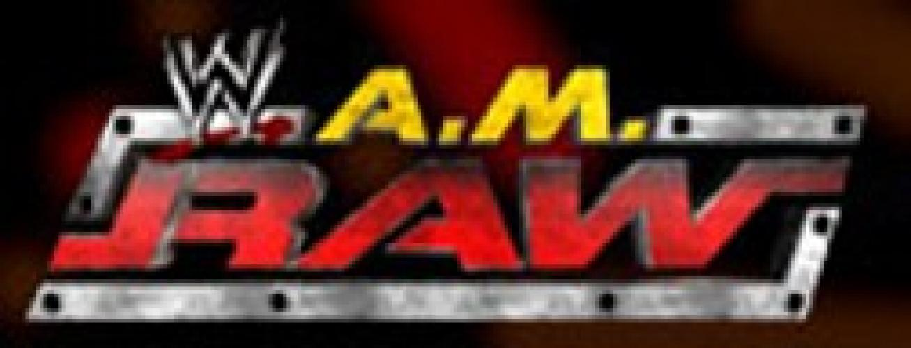 WWE A.M. Raw next episode air date poster